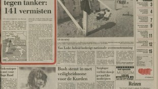 Leidse Courant | 11 april 1991 | pagina 1 (1/18)
