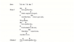 Lou Reed - Perfect Day (foto Sheet Music Direct)