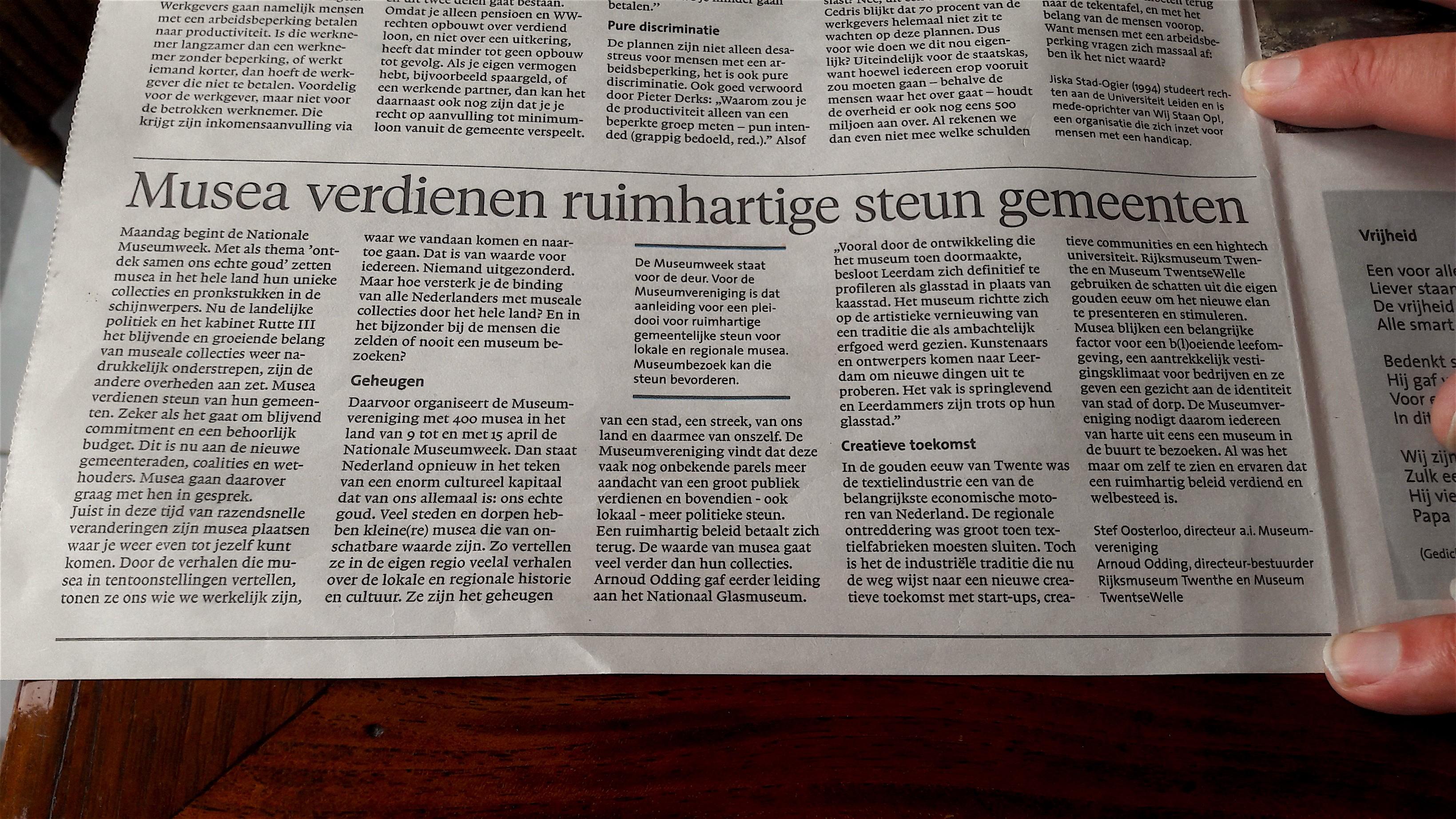 Musea verdienen ruimhartige steun van gemeenten (foto Loes Vermeer-Lagerveld)