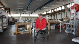 Rob Scholte in studio te Den Helder (foto Kevin van Vliet)