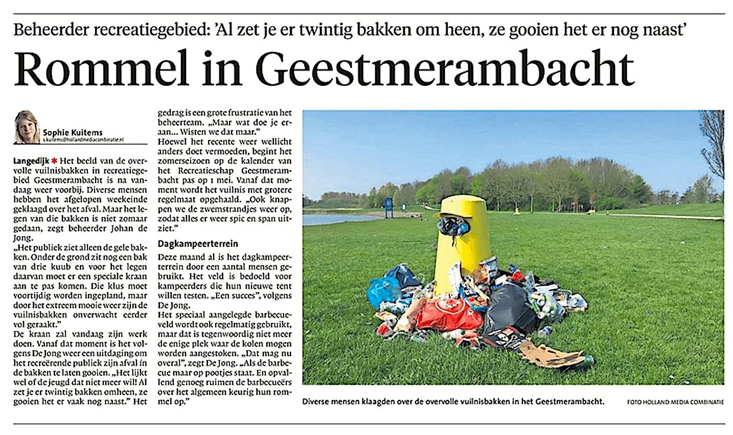 Alkmaarse Courant, 25 april 2018