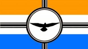 Strijdvlag van de PVV (foto Krapuul)