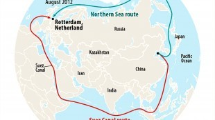 Suez Canal Route & Northern Sea Route (foto RT)