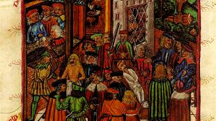 Te kijk staan in de 'Pranger' (Hamburger Stadtrecht, 1497)