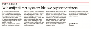 Alkmaarse Courant, 8 mei 2018