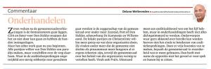 Delano Weltevreden - Onderhandelen, Helderse Courant, 12 mei 2018
