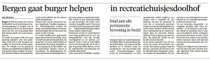 Alkmaarse Courant, 13 mei 2018