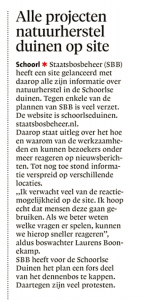 AC - Alle projecten natuurherstel duinen op site, Alkmaarse Courant, 11 juni 2018