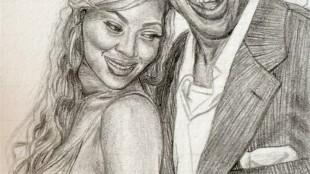 Beyoncé and Jay-Z sketch (foto Eat Sketch Love)