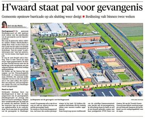 H'waard staat pal achter gevangenis, Alkmaarse Courant, 19 juni 2018