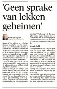 Alkmaarse Courant, 8 juni 2018
