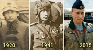 Putin als tijdreiziger (foto Express)