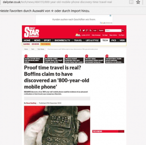 Screenshot Daily Star (Art Replik)