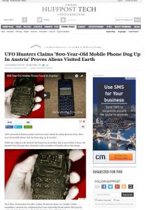 Screenshot Huffpost Tech (Art Replik)