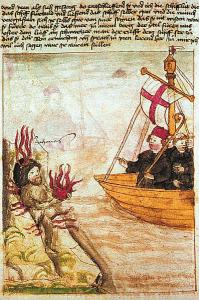 St. Brandaan en Judas Iscariot (foto smart.seieditrice)