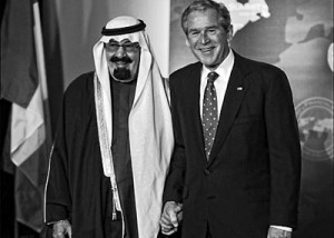 Bush en de Saudi's van Carlyle ! (foto yoo,.rs)
