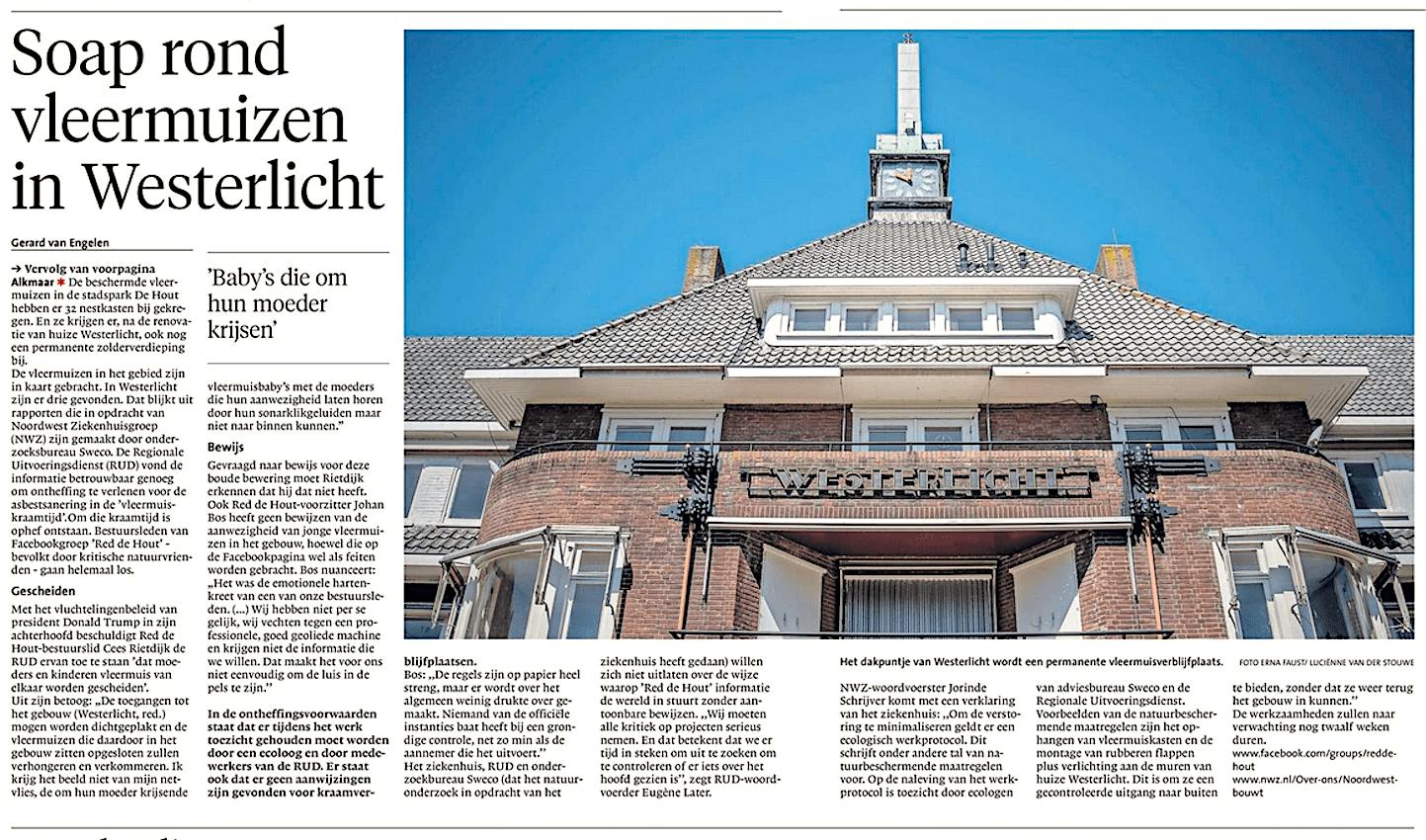 Alkmaarse Courant, 5 juli 2018