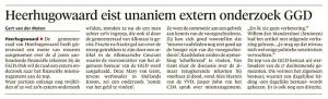 Alkmaarse Courant, 30 juni 2018