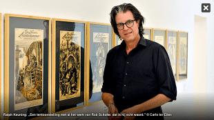 """Ralph Keuning: """"Een tentoonstelling met al het werk van Rob Scholte, dat is hij echt waard"""" (foto Carlo ter Ellen)"""
