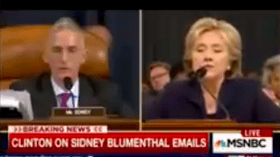 Trey Gowdy & Hillary Clinton (foto YouTube)