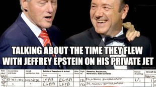Bill Clinton & Kevin Spacey (foto Before It's News)
