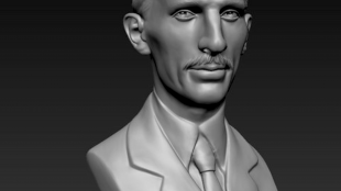 Bust of Nicola Tesla (foto Cults3D)