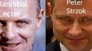 Hannibal Lecter & Peter Strzok (foto Before It's News)