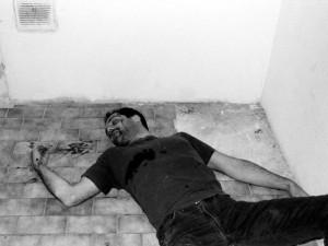 "Image disseminated of the slain artist ""Darko Maver"" (foto Rhizome.org)"