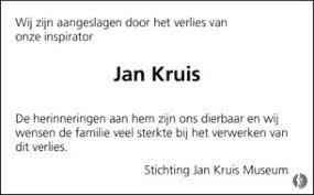 Overlijdensbericht Jan Kruis (foto Mensenling)