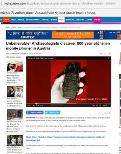 Screenshot indiatvnews (Art Replik)