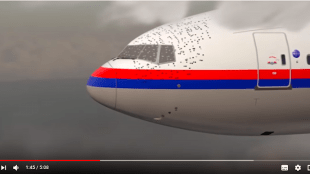Screenshot van de video Cause of MH17 crash by Dutch Safety Board