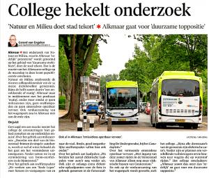 Gerard van Engelen - College hekelt onderzoek, Alkmaarse Courant, 15 augustus 2018