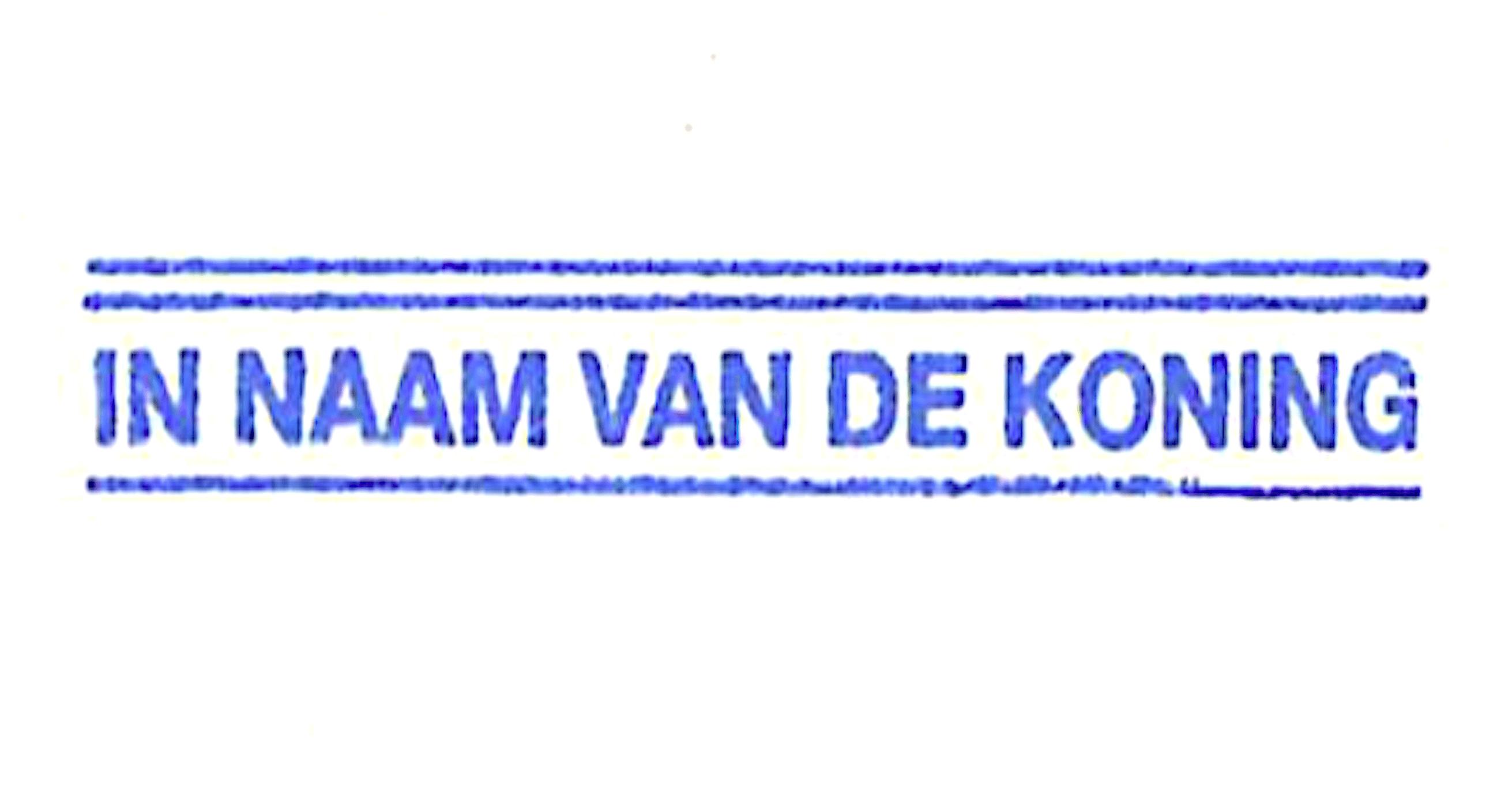 IN NAAM VAN DE KONING (foto Rechtbank Alkmaar)