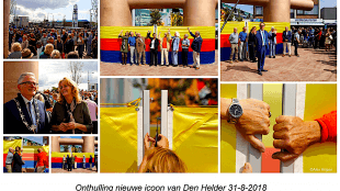 Onthulling nieuwe icoon van Den Helder, 31 augustus 2018, Dubbele Bolder (foto Twitter)