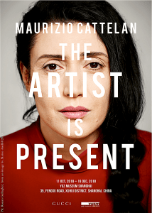 Poster for The Artist Is Present ((foto Ronan Gallagher/Marco Anelli)