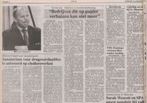 Staatssecretaris Willem Vermeend offshore is koninkrijksbelang, Amigoe, 10 januari 1995