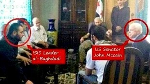 The McCain-FSA-ISIS Alliance meeting occured in Kurdish territory a mile inside Syria on May 27, 2013 (foto Expose The Deep State!)