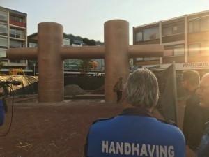 Toezicht door Handhaving Den Helder (foto Handhaving Den Helder/Twitter)