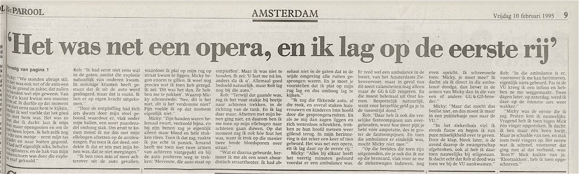 Het Parool, 10 februari 1995