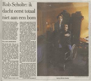 Bart Middelburg - 'Ik dacht eerst totaal niet aan een bom', Het Parool, 10 februari 1995