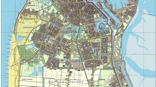 Den Helder, topografische noord gerichte kaart (foto Wikipedia)