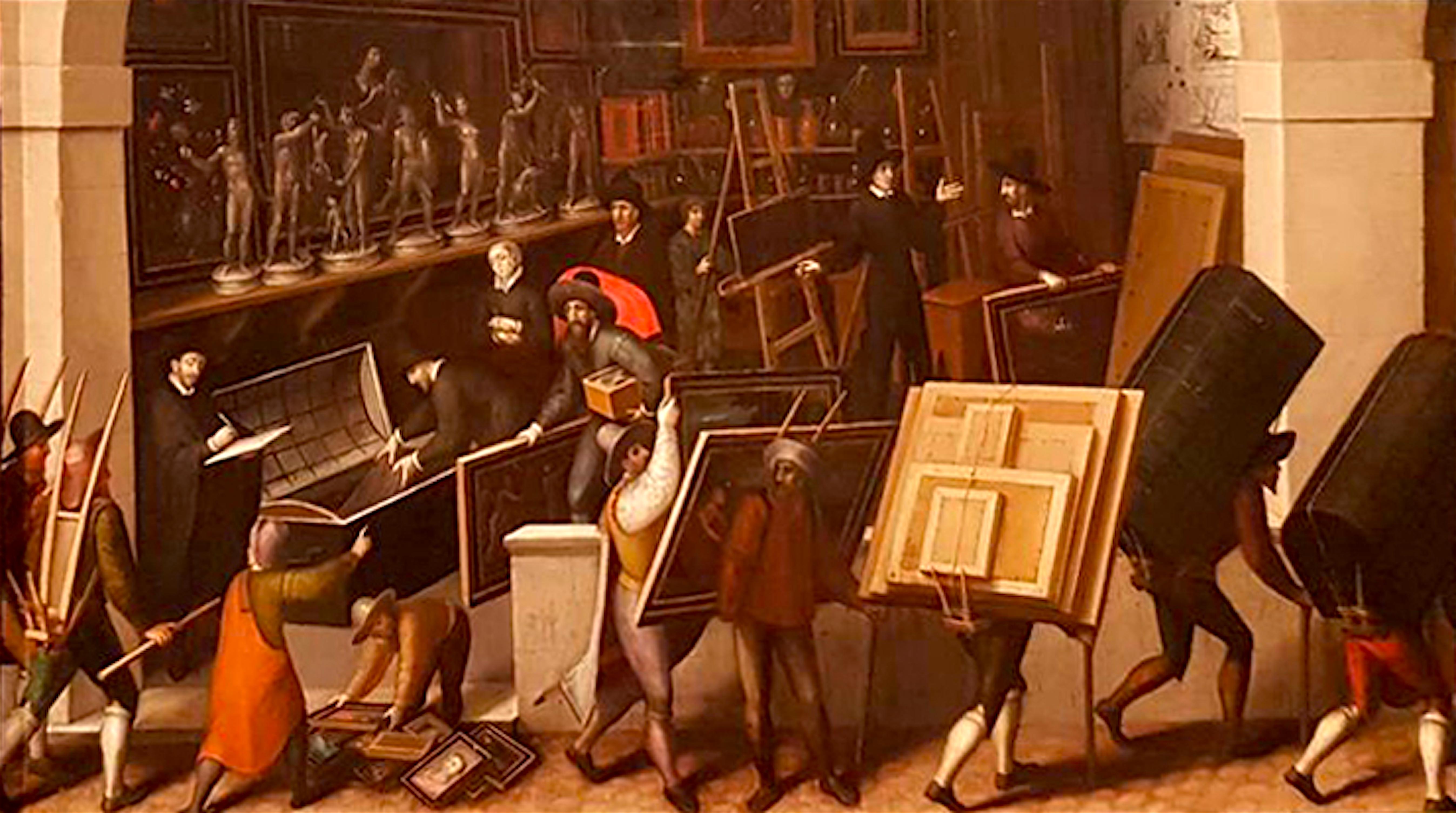 François Bunel – De inbeslagname van het atelier van een schilder