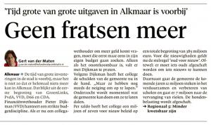 Alkmaarse Courant, 6 oktober 2018