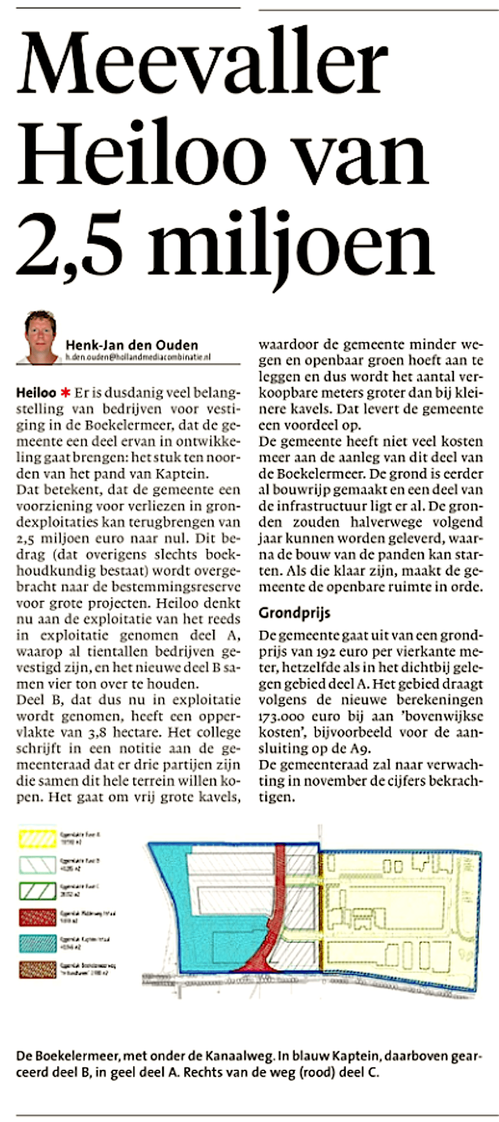 Alkmaarse Courant, 23 oktober 2018