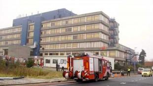 Evacuatie ziekenhuis door rook (foto DHA)