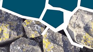 Abstractie van basalt blokken leidde tot Helderse huisstijl (foto YouTube)
