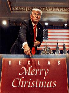 Kerstgroeten van Donald Trump (Q)