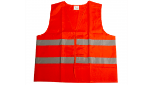 No more Gele Hesjes! Veiligheidsvest Oxford oranje XL (foto Fruttekoek)