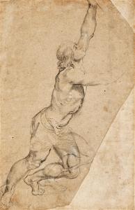 De tekening in houtskool van Rubens was een voorstudie voor een altaarstuk uit 1608 (foto Sotheby's)