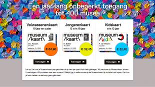 Een jaar onbeperkt toegang tot 400 musea (foto museumkaart.nl)
